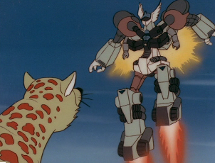 The giant robot in the 1980s Astro Boy anime